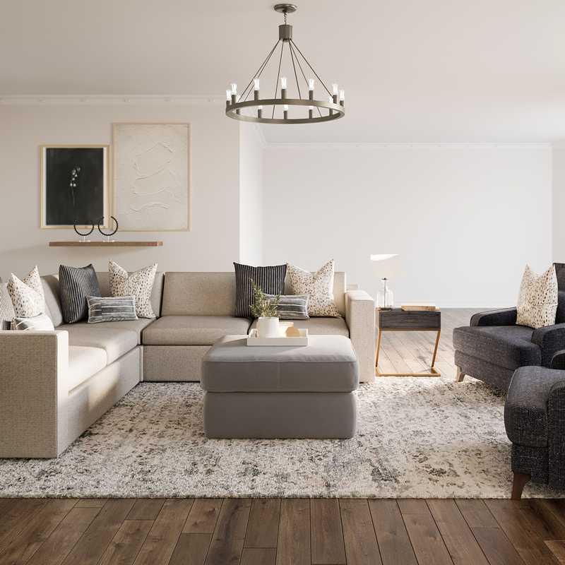Eclectic, Transitional Living Room Design by Havenly Interior Designer Brea