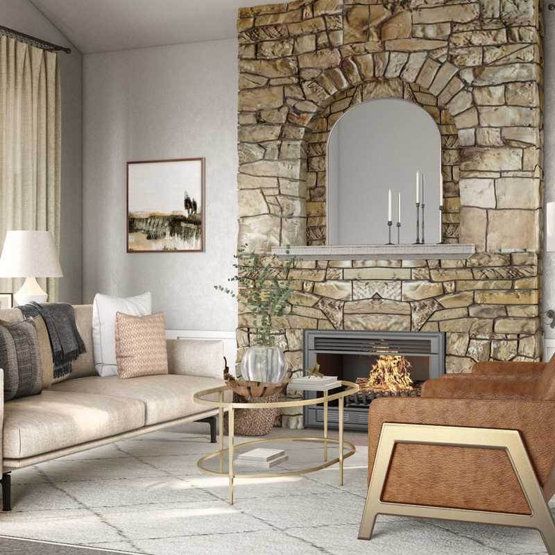 Modern, Classic, Farmhouse, Transitional, Minimal Living Room Design by Havenly Interior Designer Elle