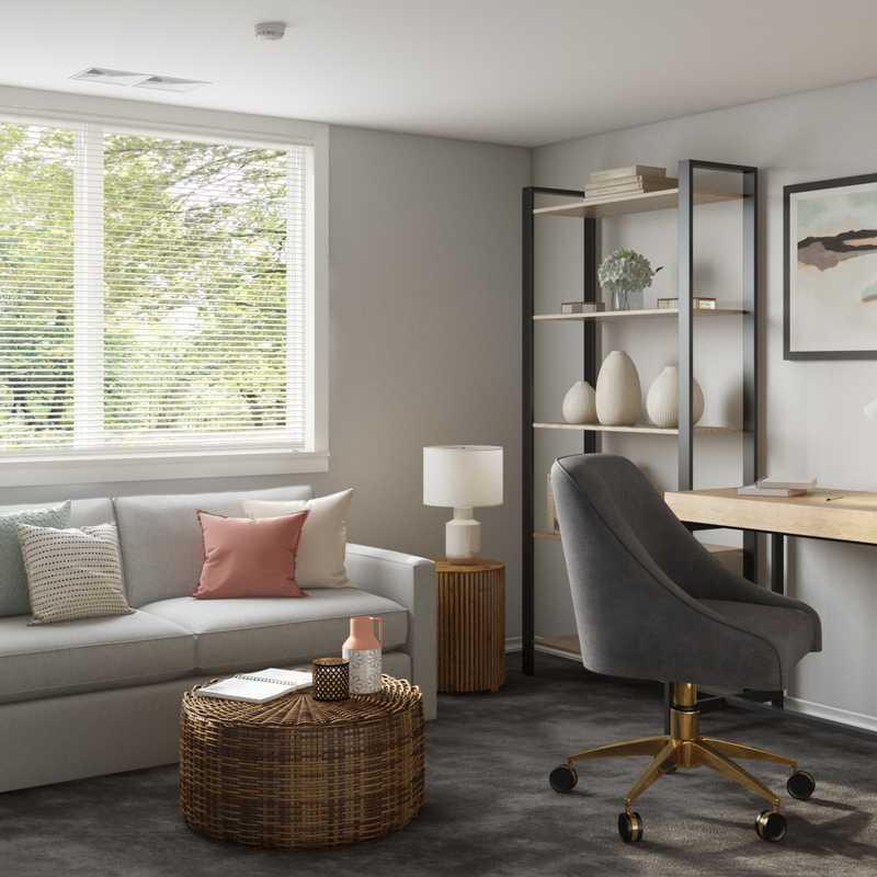 Modern, Farmhouse Office Design by Havenly Interior Designer Rebecca