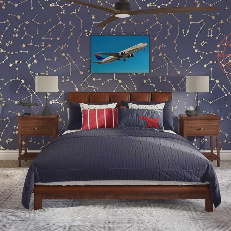 Modern, Transitional Bedroom Design by Havenly Interior Designer Aubrey