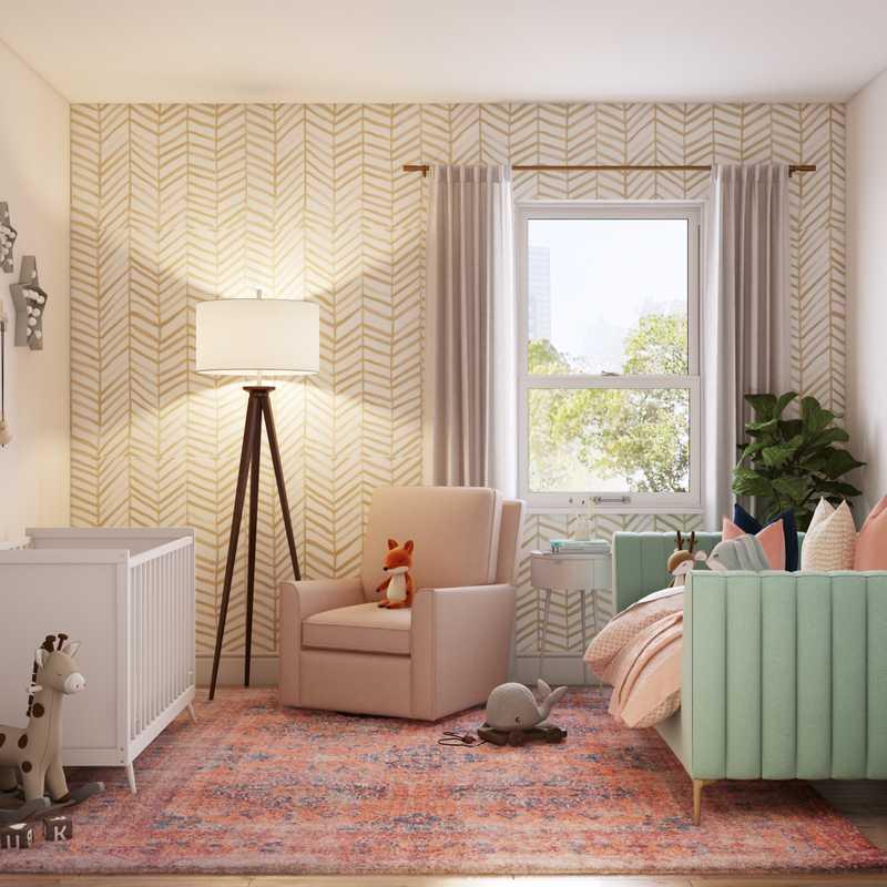 Modern, Glam, Transitional Bedroom Design by Havenly Interior Designer Ghianella