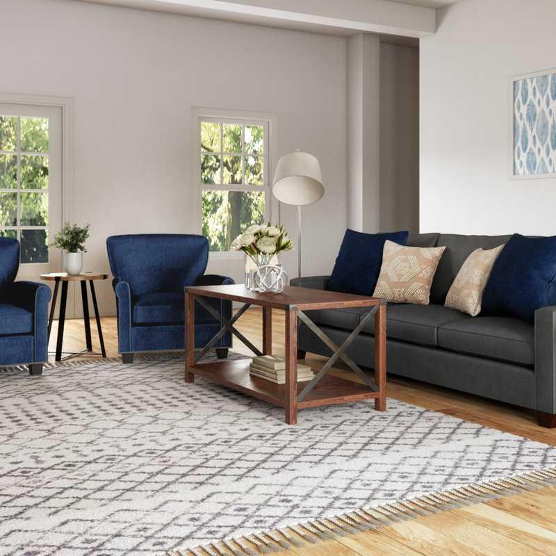 Classic, Coastal, Farmhouse, Rustic Living Room Design by Havenly Interior Designer Briana