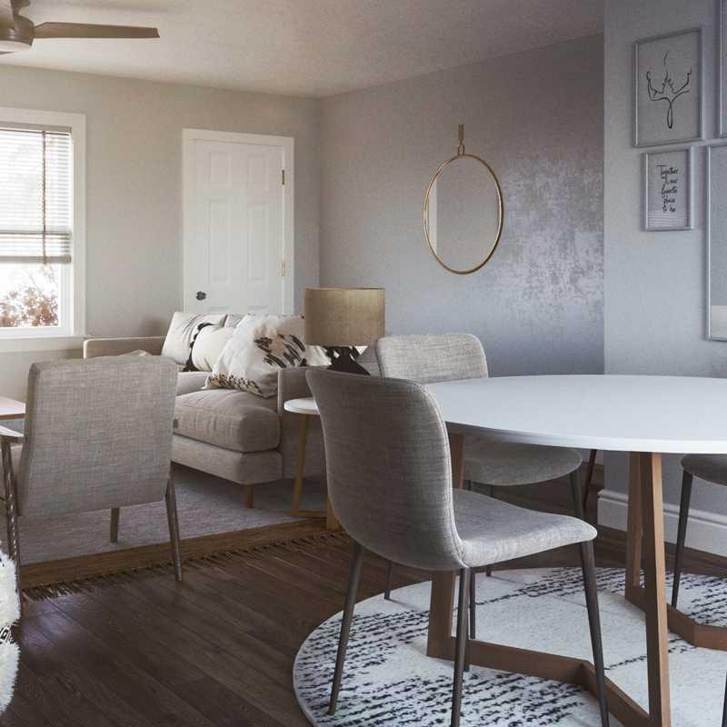 Bohemian, Midcentury Modern Living Room Design by Havenly Interior Designer Priscila