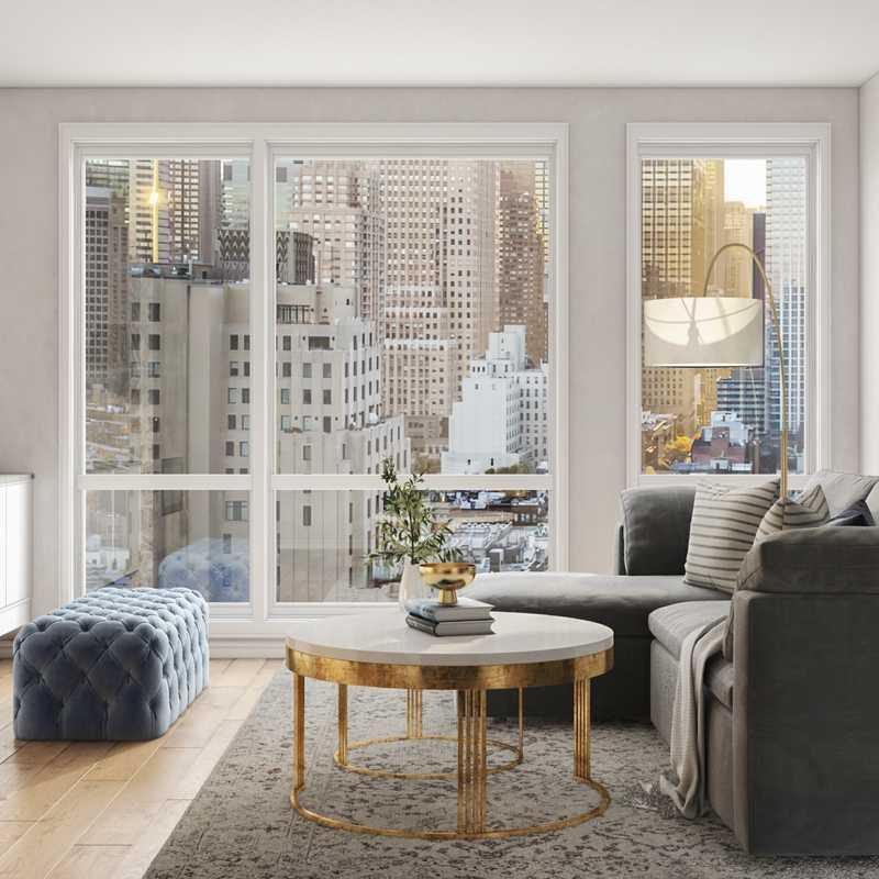 Glam Living Room Design by Havenly Interior Designer Gonzalo