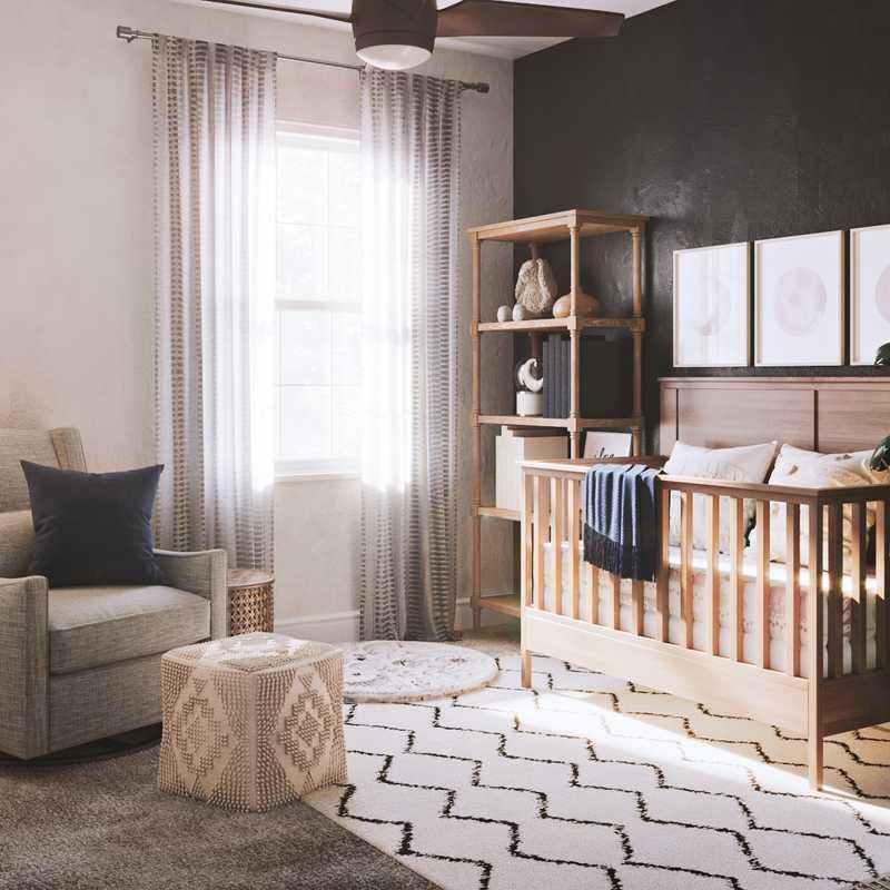 Modern, Bohemian, Scandinavian Nursery Design by Havenly Interior Designer Rebecca