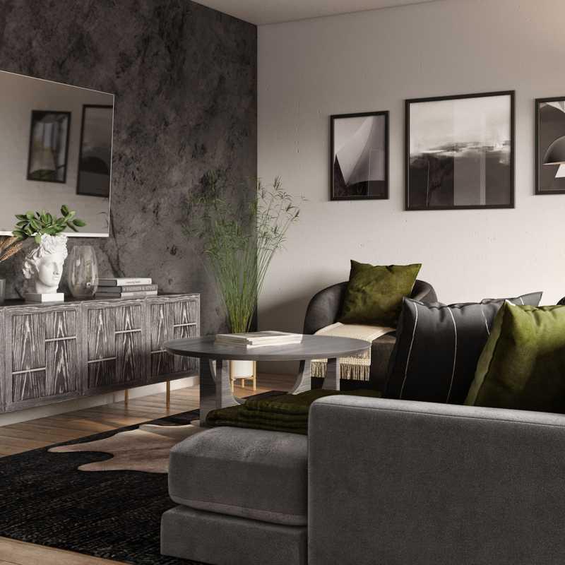 Modern Living Room Design by Havenly Interior Designer Freddi