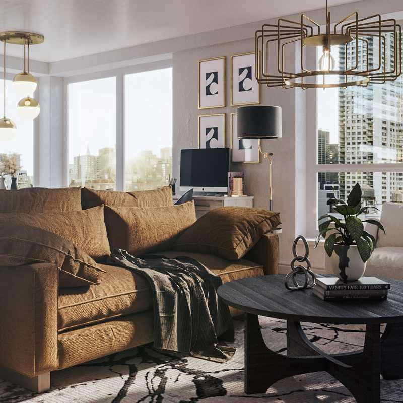 Contemporary, Modern, Eclectic Living Room Design by Havenly Interior Designer Cristina
