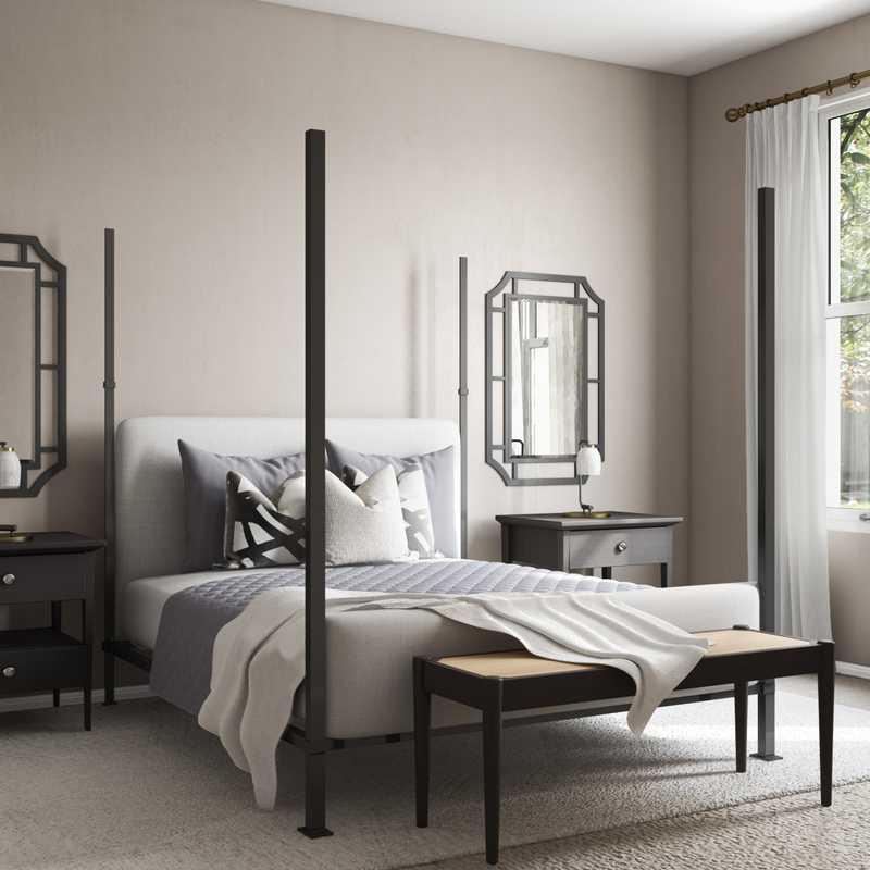 Contemporary, Modern, Minimal Bedroom Design by Havenly Interior Designer Nicole