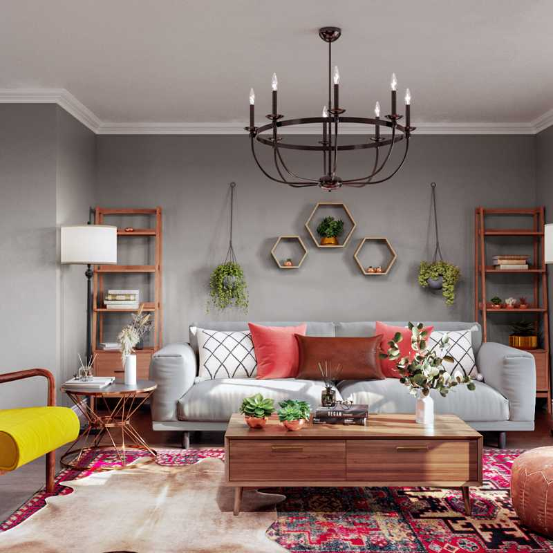 Midcentury Modern Living Room Design by Havenly Interior Designer Francisco
