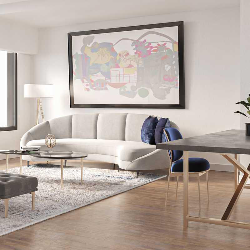 Glam Living Room Design by Havenly Interior Designer Amber