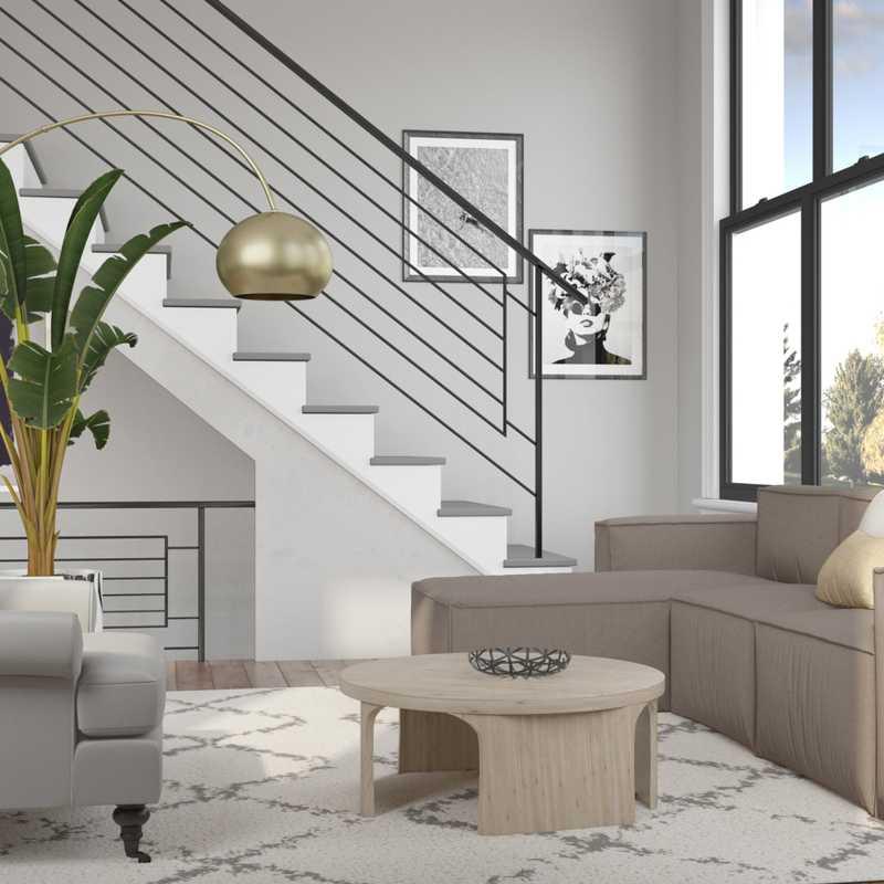 Modern, Glam Living Room Design by Havenly Interior Designer Lena