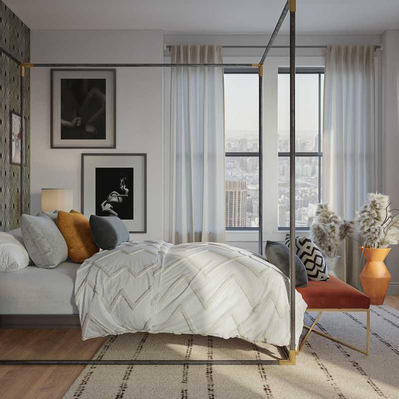 Modern, Glam Bedroom Design by Havenly Interior Designer Lena