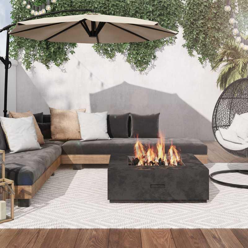 Modern, Midcentury Modern Outdoor Space Design by Havenly Interior Designer Veridiana