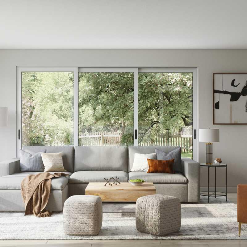Modern, Industrial, Midcentury Modern Living Room Design by Havenly Interior Designer Jennifer
