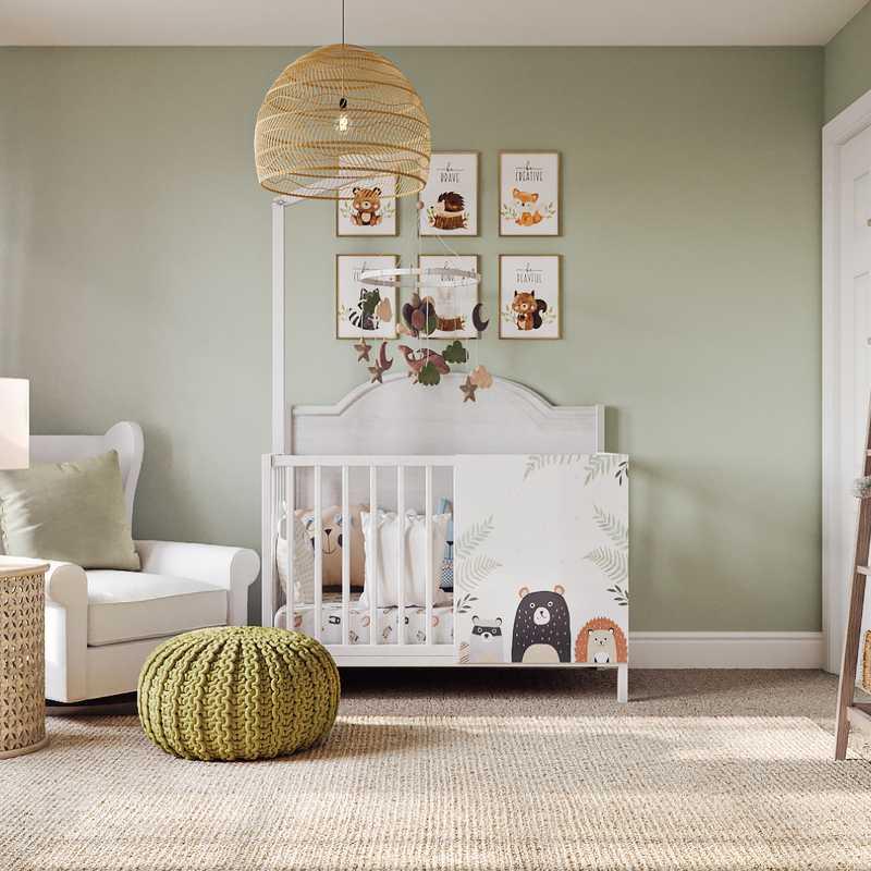 Coastal, Farmhouse Nursery Design by Havenly Interior Designer Carla