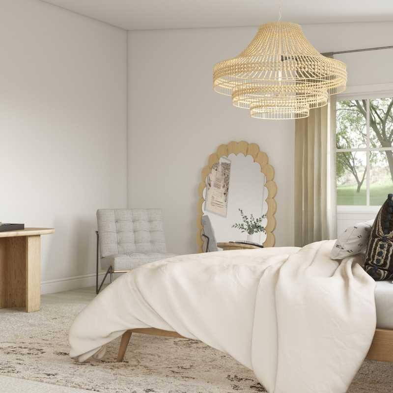 Contemporary, Bohemian Dining Room Design by Havenly Interior Designer Sandra