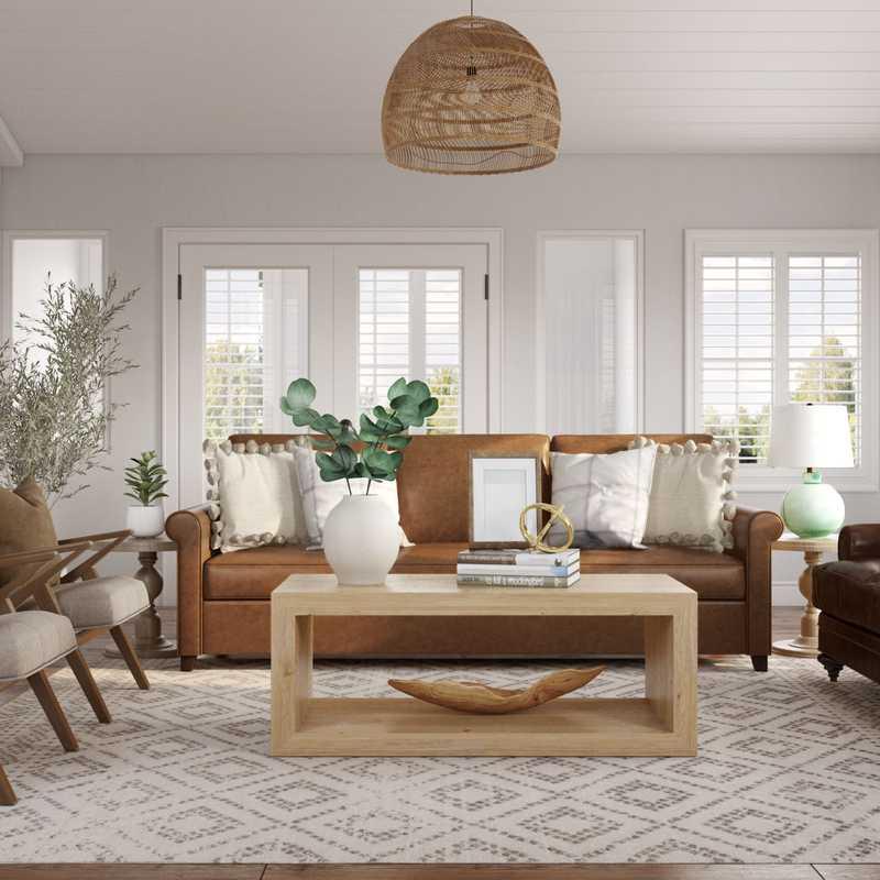 Coastal Living Room Design by Havenly Interior Designer Kayla