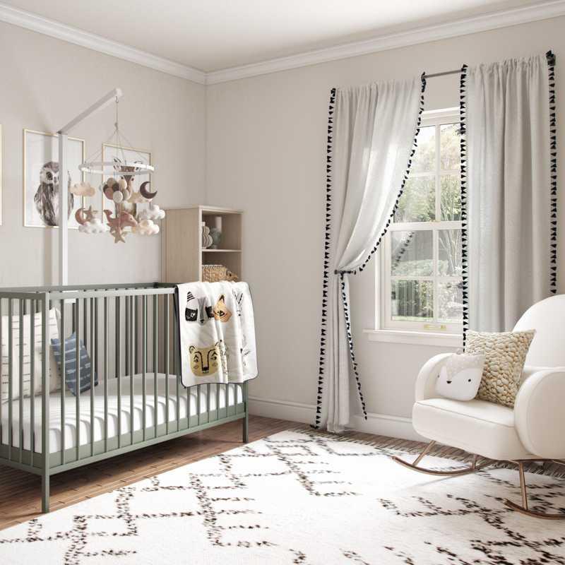 Bohemian, Midcentury Modern, Scandinavian Nursery Design by Havenly Interior Designer Rebecca