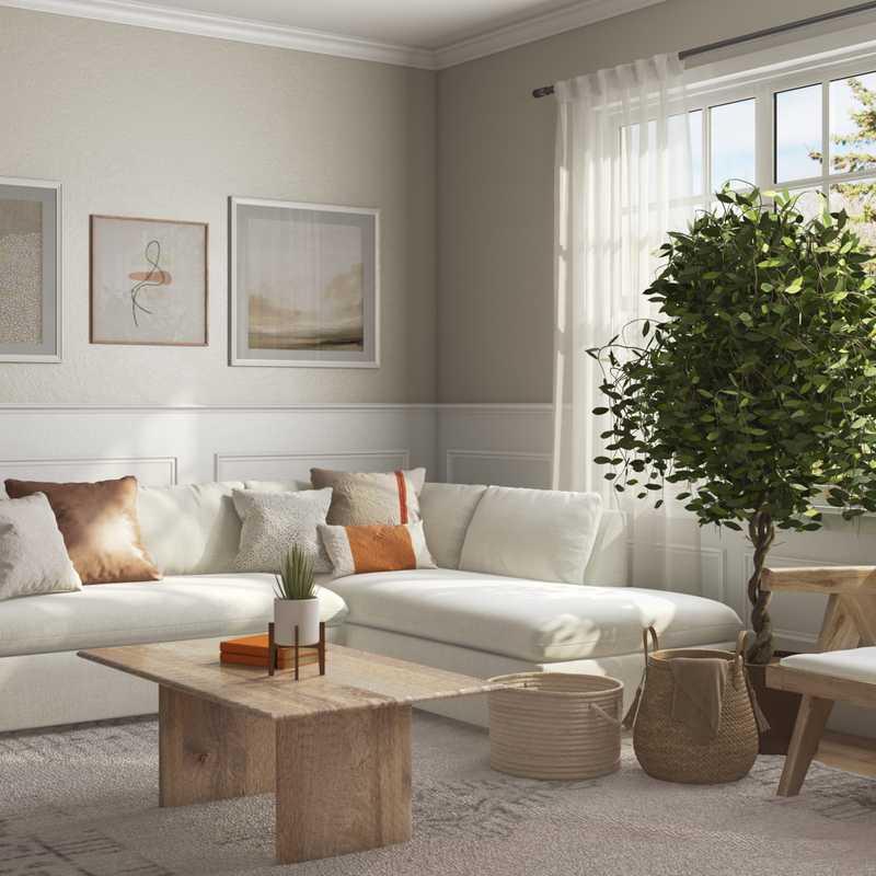 Midcentury Modern, Scandinavian Living Room Design by Havenly Interior Designer Lena