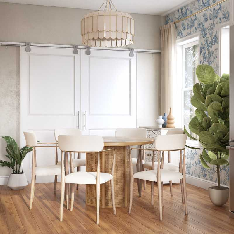 Coastal, Transitional Dining Room Design by Havenly Interior Designer McKenzi