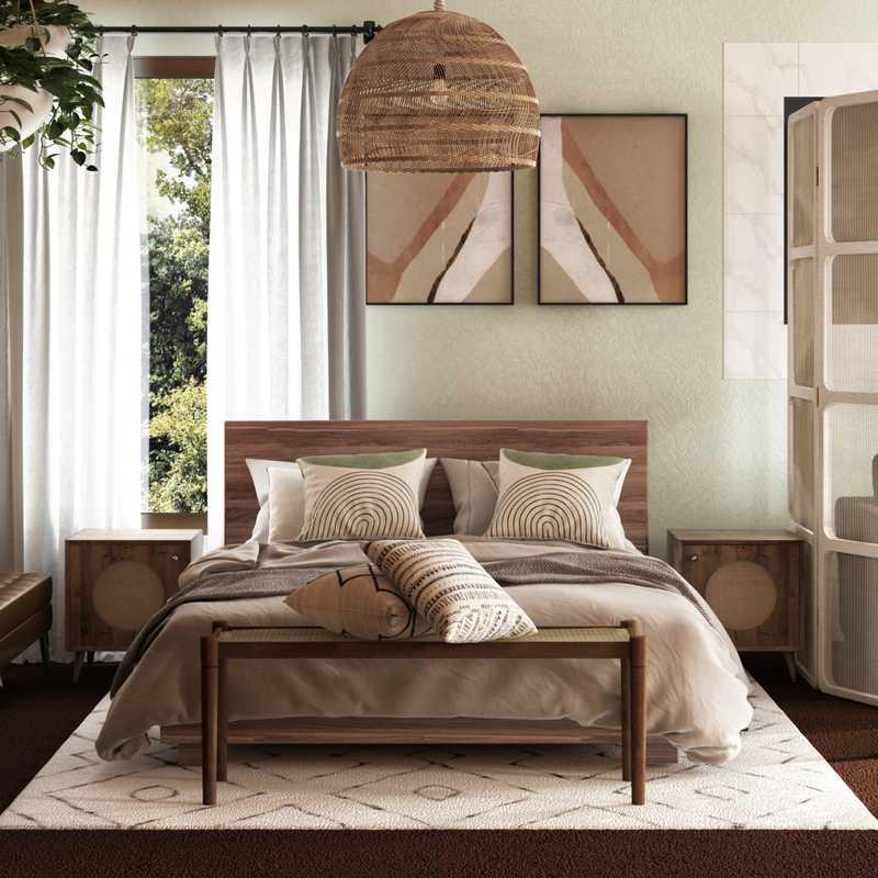 Bohemian, Global Bedroom Design by Havenly Interior Designer Stephanie