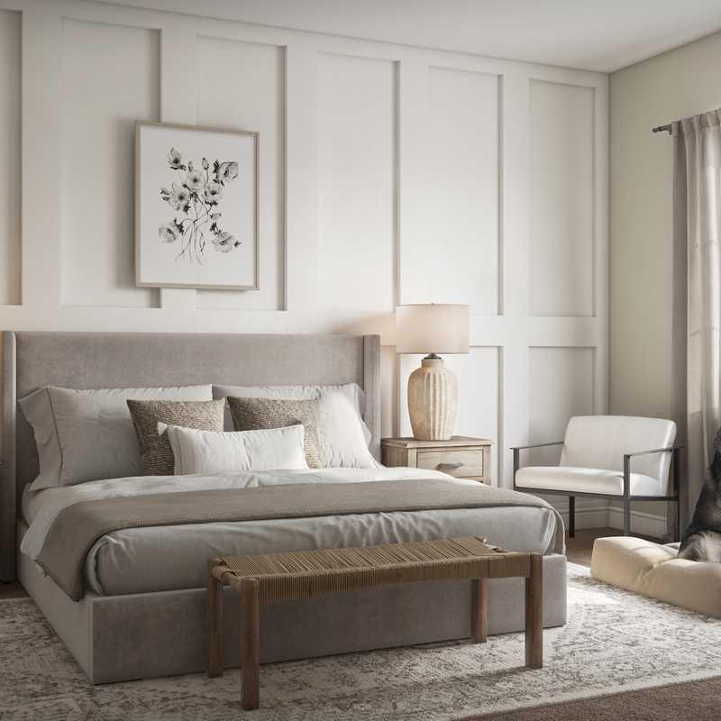 Coastal, Farmhouse, Rustic, Global Bedroom Design by Havenly Interior Designer Nicole