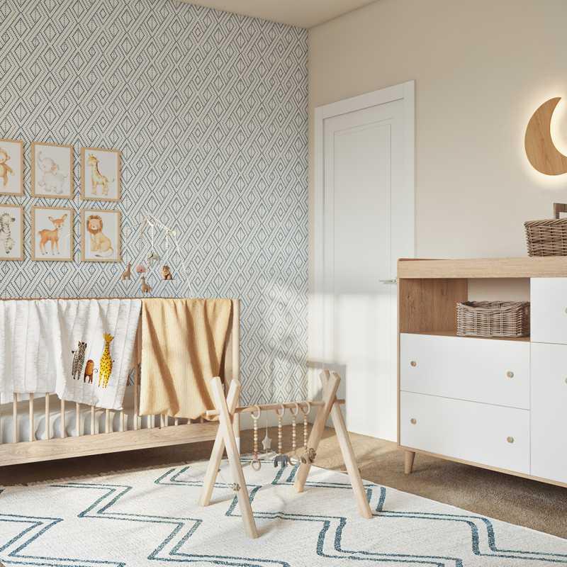 Eclectic, Bohemian, Midcentury Modern Nursery Design by Havenly Interior Designer Julia