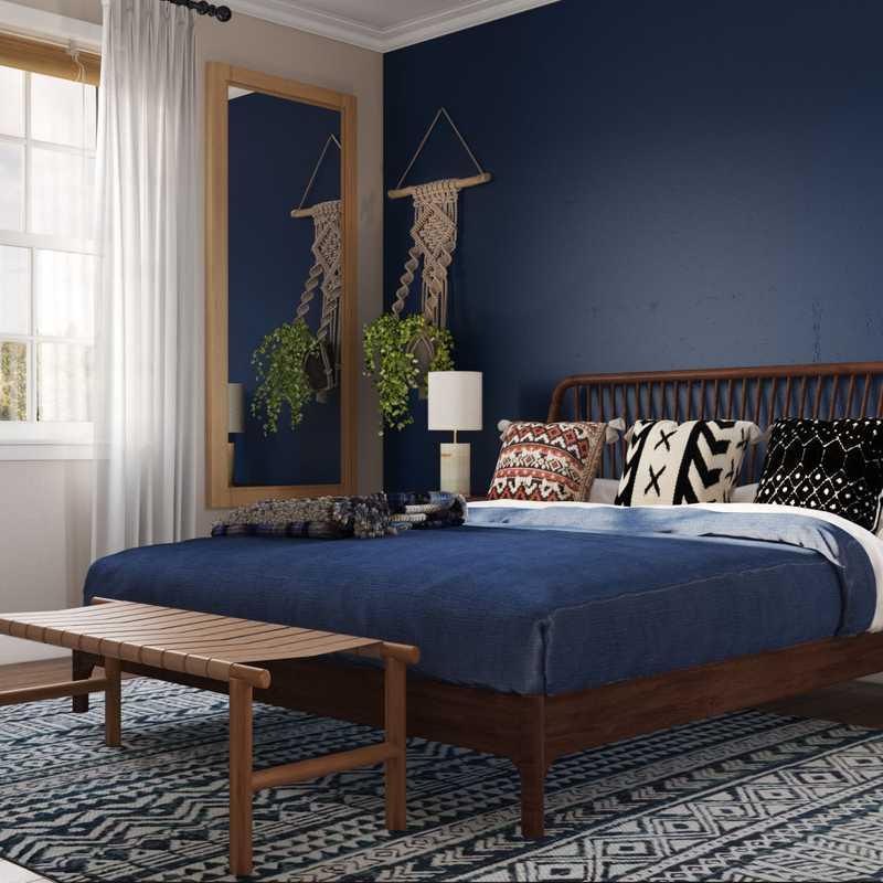 Eclectic, Bohemian, Global Bedroom Design by Havenly Interior Designer Sarice