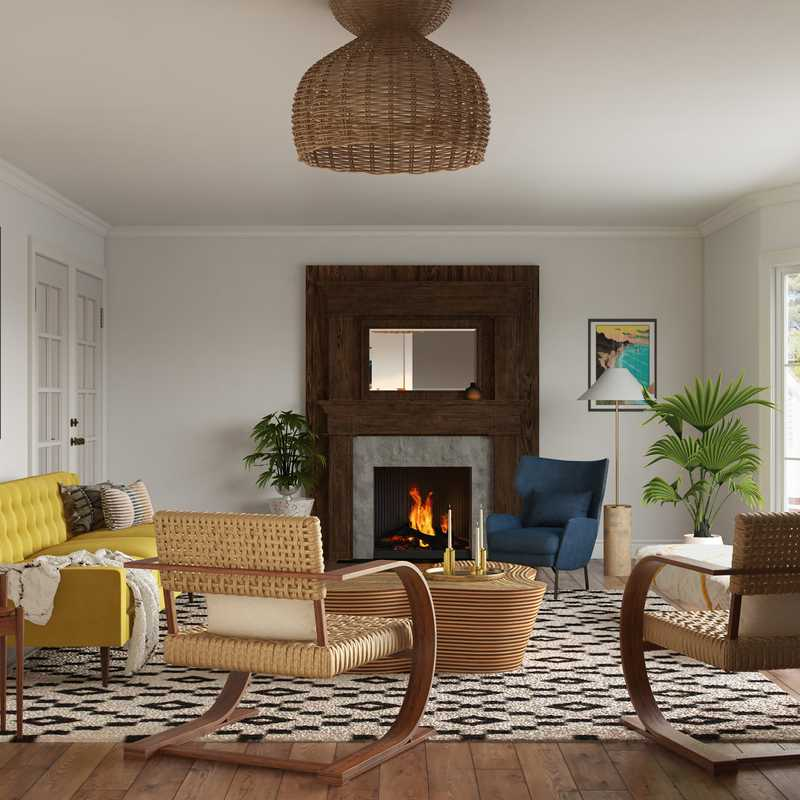 Eclectic, Bohemian, Midcentury Modern Living Room Design by Havenly Interior Designer Paige