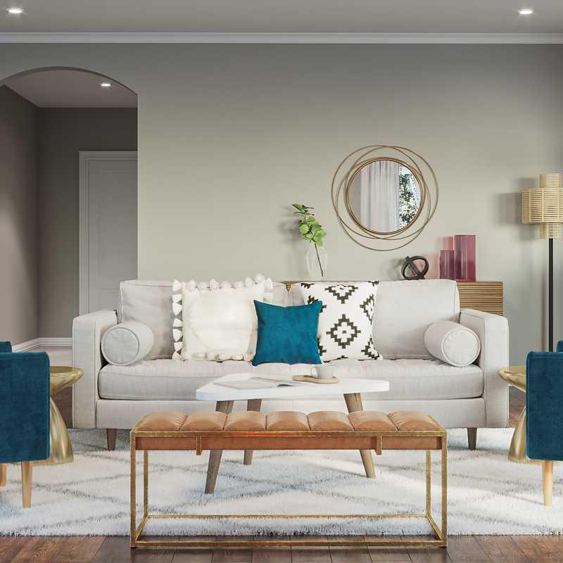 Bohemian, Scandinavian Living Room Design by Havenly Interior Designer Abi
