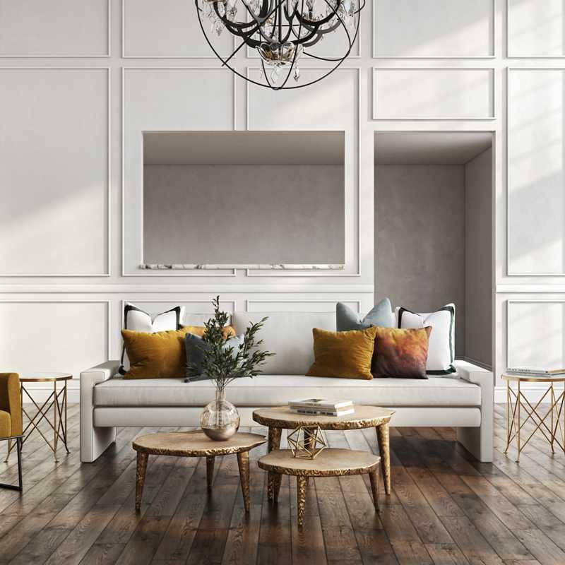 Modern, Glam Living Room Design by Havenly Interior Designer Sandra