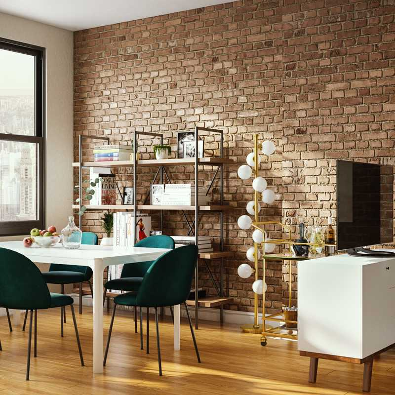 Modern, Eclectic, Industrial, Midcentury Modern Dining Room Design by Havenly Interior Designer Carla