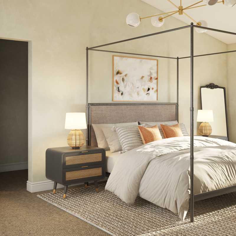 Bohemian Bedroom Design by Havenly Interior Designer Rebecca