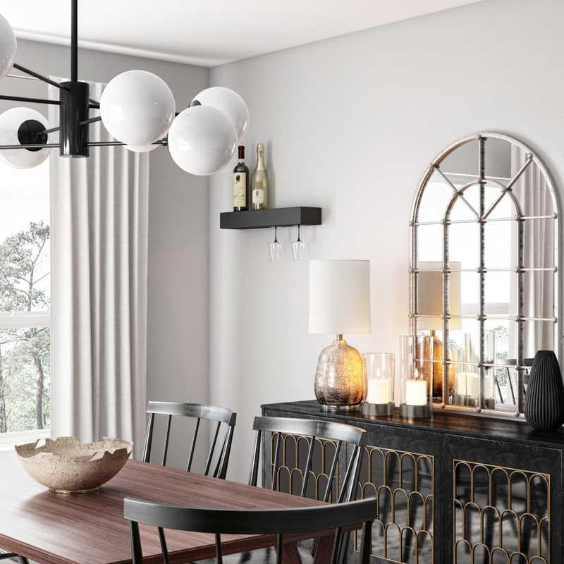 Contemporary, Farmhouse Dining Room Design by Havenly Interior Designer Courtney