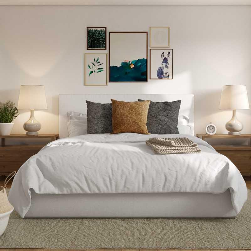 Contemporary, Modern, Midcentury Modern Bedroom Design by Havenly Interior Designer Sarah