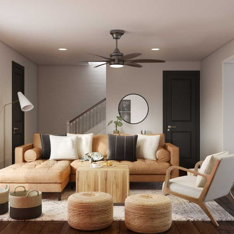 Farmhouse, Scandinavian Living Room Design by Havenly Interior Designer Camila