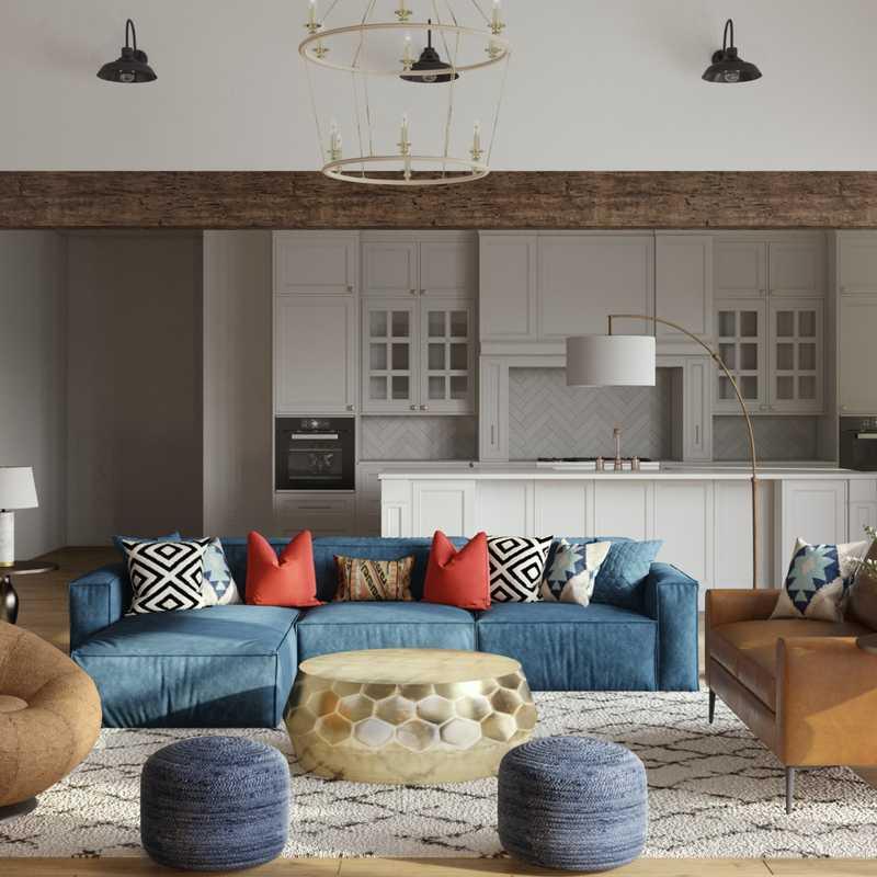 Modern, Glam Living Room Design by Havenly Interior Designer Nusrath