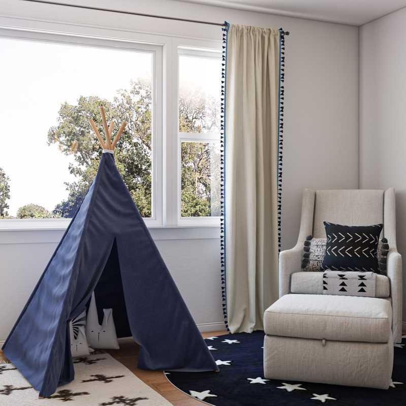 Midcentury Modern, Scandinavian Nursery Design by Havenly Interior Designer Athena