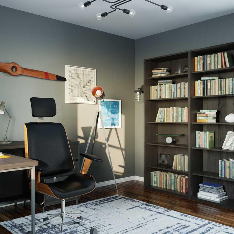 Industrial, Rustic Office Design by Havenly Interior Designer Kaylee