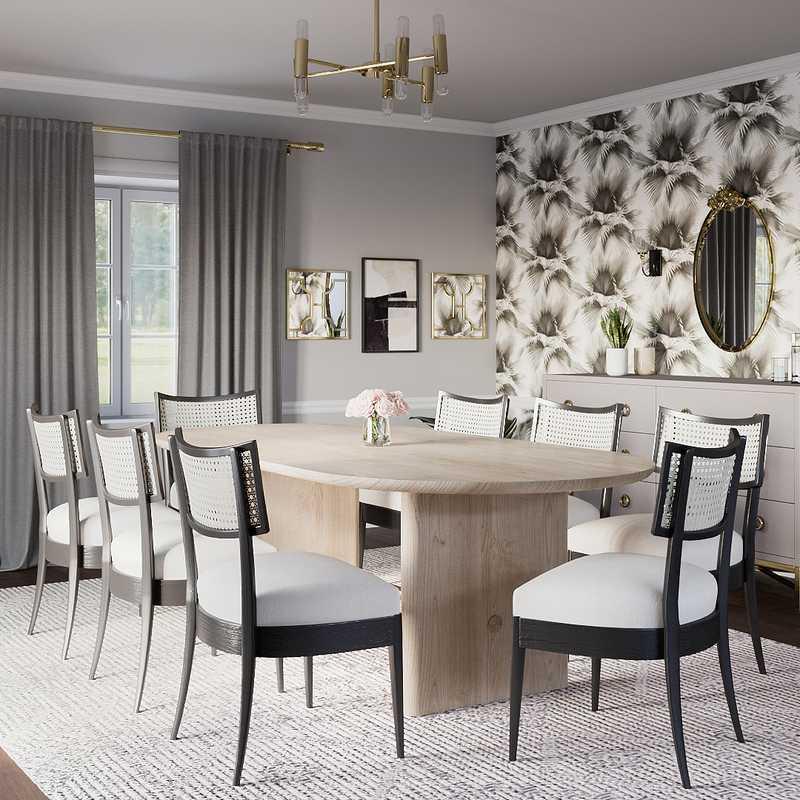 Modern, Classic, Glam Dining Room Design by Havenly Interior Designer Lora