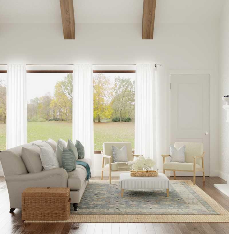 Classic, Preppy Living Room Design by Havenly Interior Designer Kacey