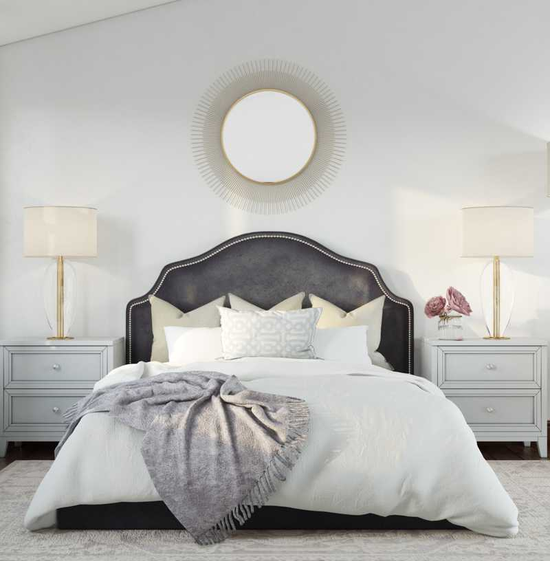 Glam, Transitional Bedroom Design by Havenly Interior Designer Yoseika