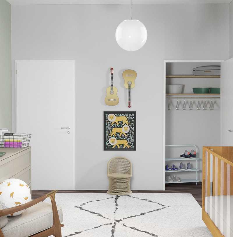 Bohemian, Midcentury Modern, Scandinavian Nursery Design by Havenly Interior Designer Annie