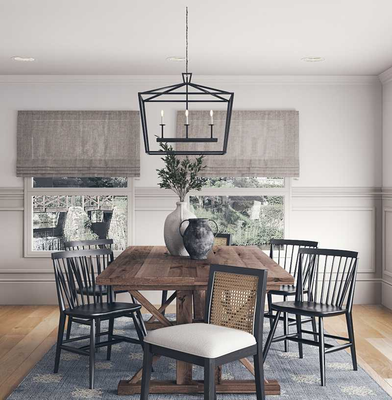 Eclectic, Transitional Dining Room Design by Havenly Interior Designer Brianna