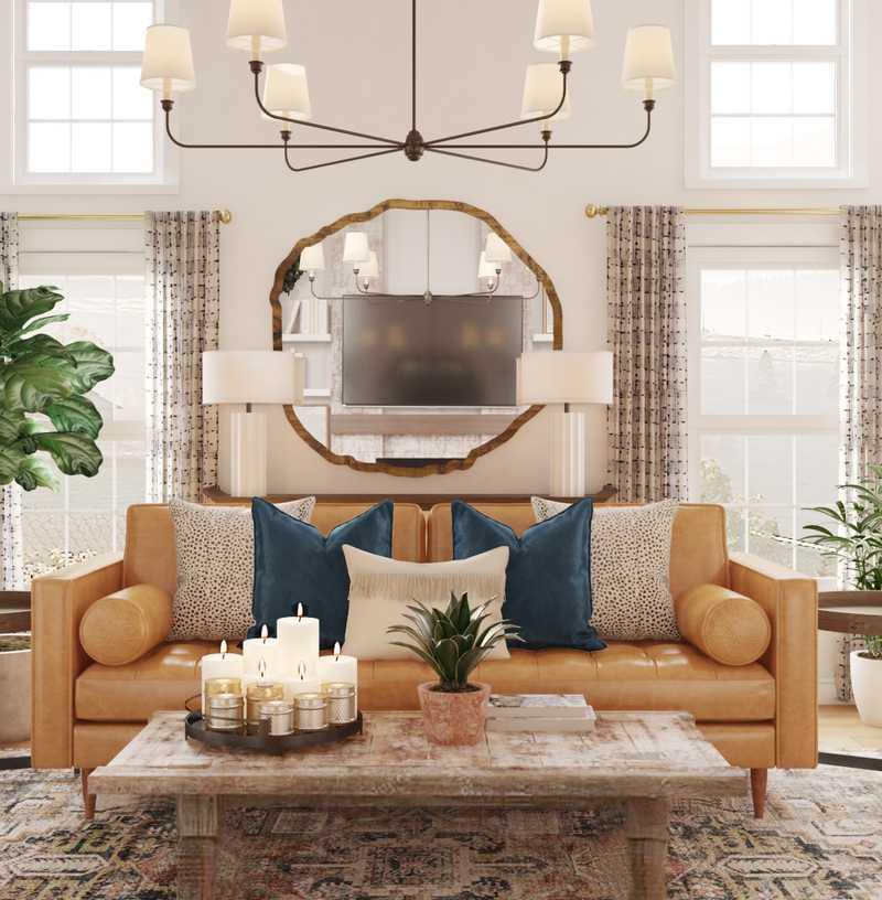 Eclectic Living Room Design by Havenly Interior Designer Matthew