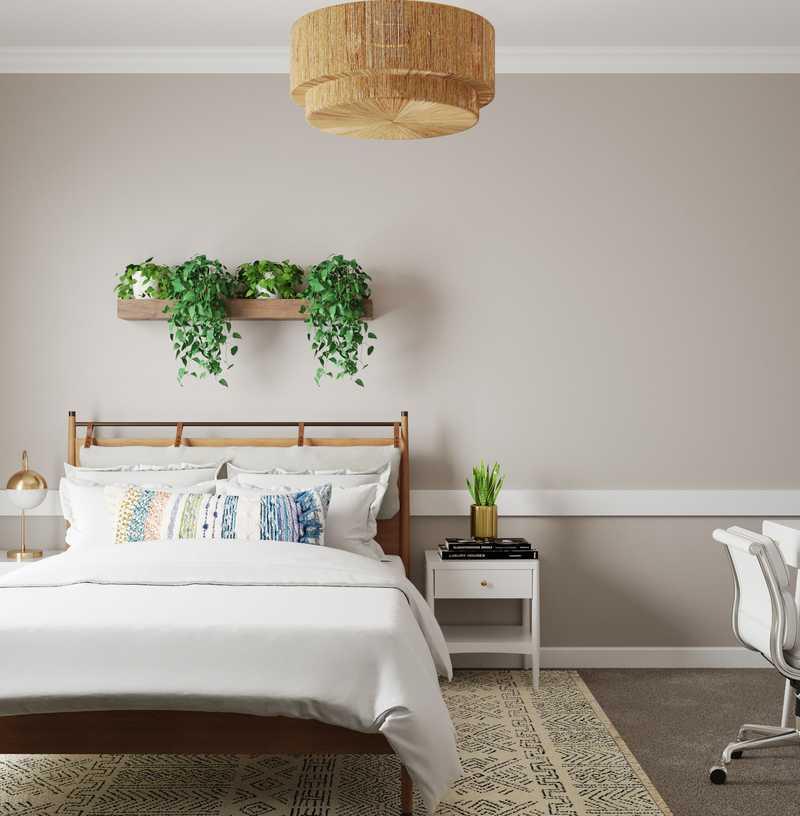 Bohemian Bedroom Design by Havenly Interior Designer Jamie