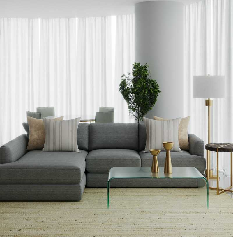 Transitional, Classic Contemporary Living Room Design by Havenly Interior Designer Anny