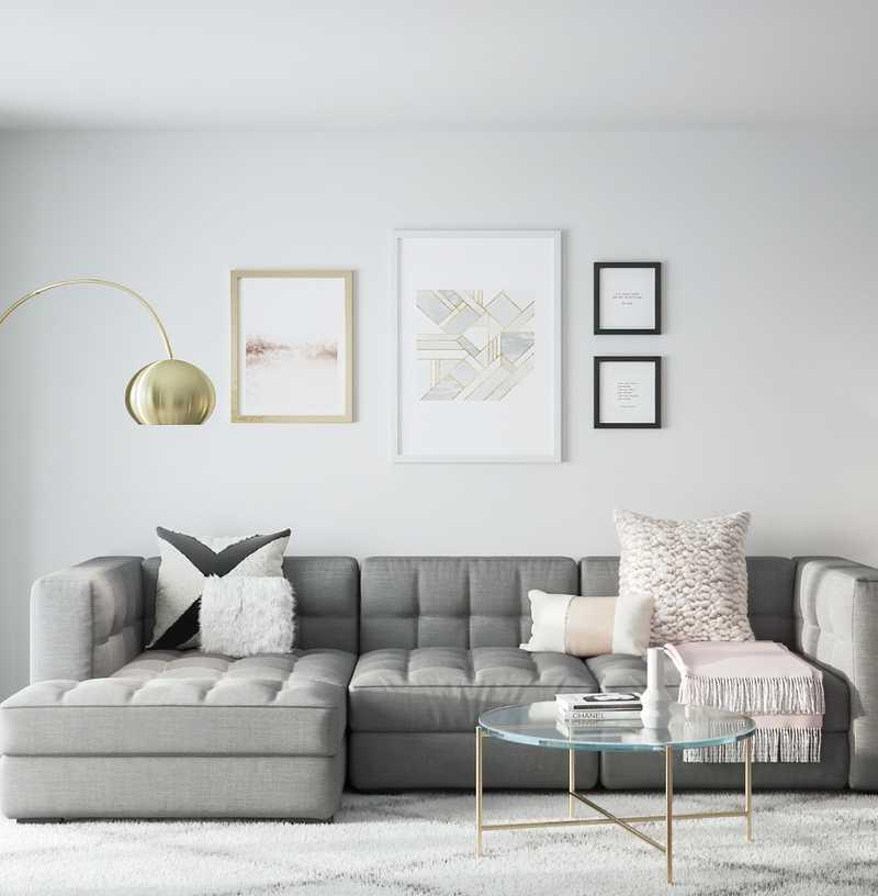 Modern, Classic, Transitional Living Room Design by Havenly Interior Designer Randi