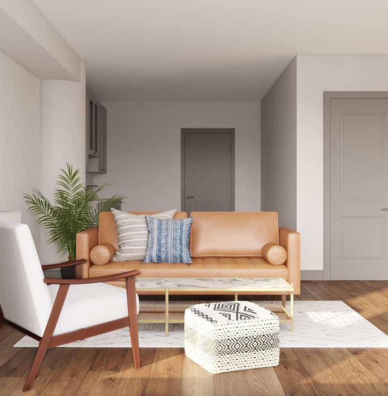 Bohemian, Midcentury Modern Living Room Design by Havenly Interior Designer Seireen