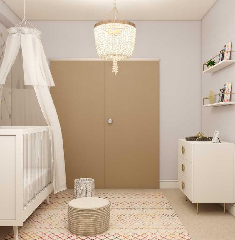 Contemporary, Modern, Bohemian, Glam, Global, Midcentury Modern, Scandinavian Nursery Design by Havenly Interior Designer Elizabeth